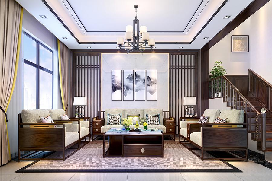 现代中式家居案例,新中式家具案例, 现代文人空间