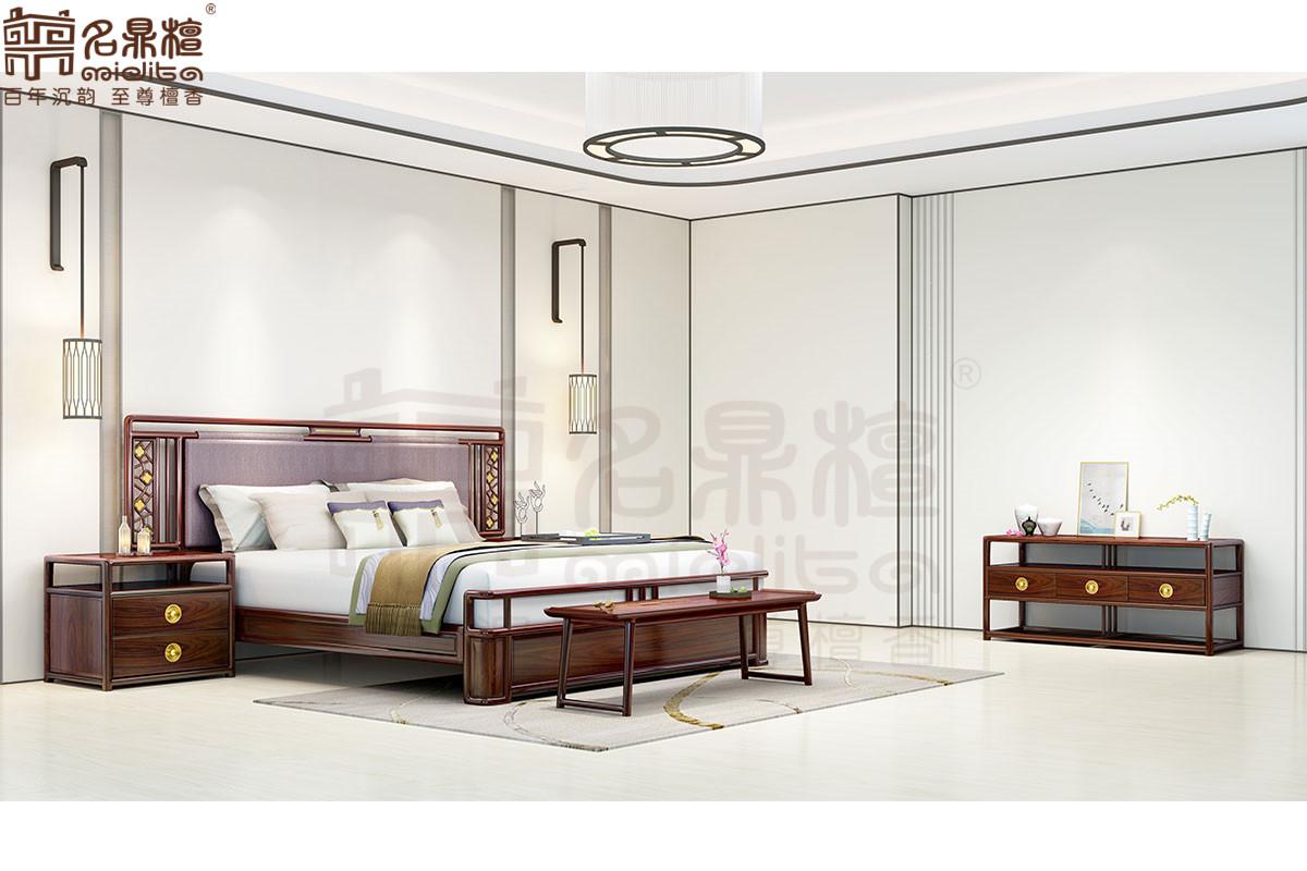 名鼎檀·逸芳系列188D现代中式卧房组合
