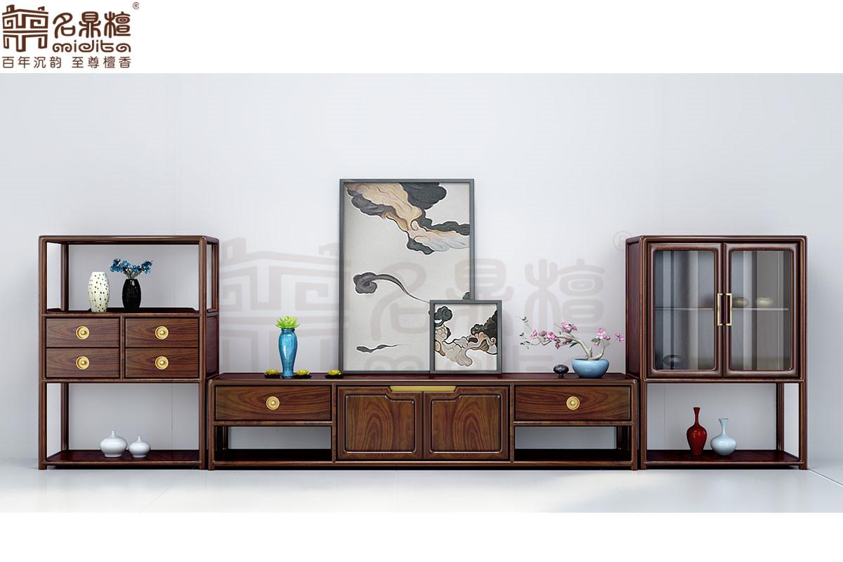 名鼎檀·逸芳系列188现代中式客厅柜组合