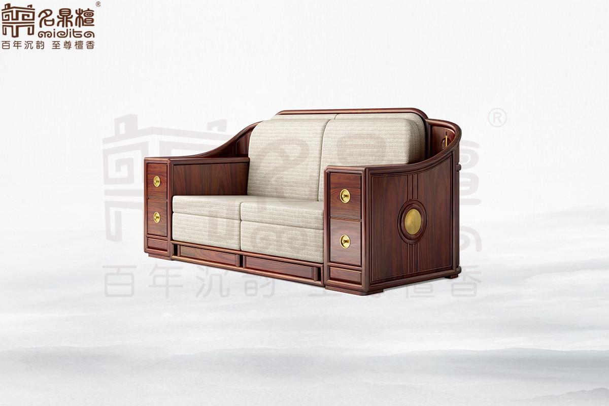 名鼎檀·逸芳系列188E现代中式两人位沙发