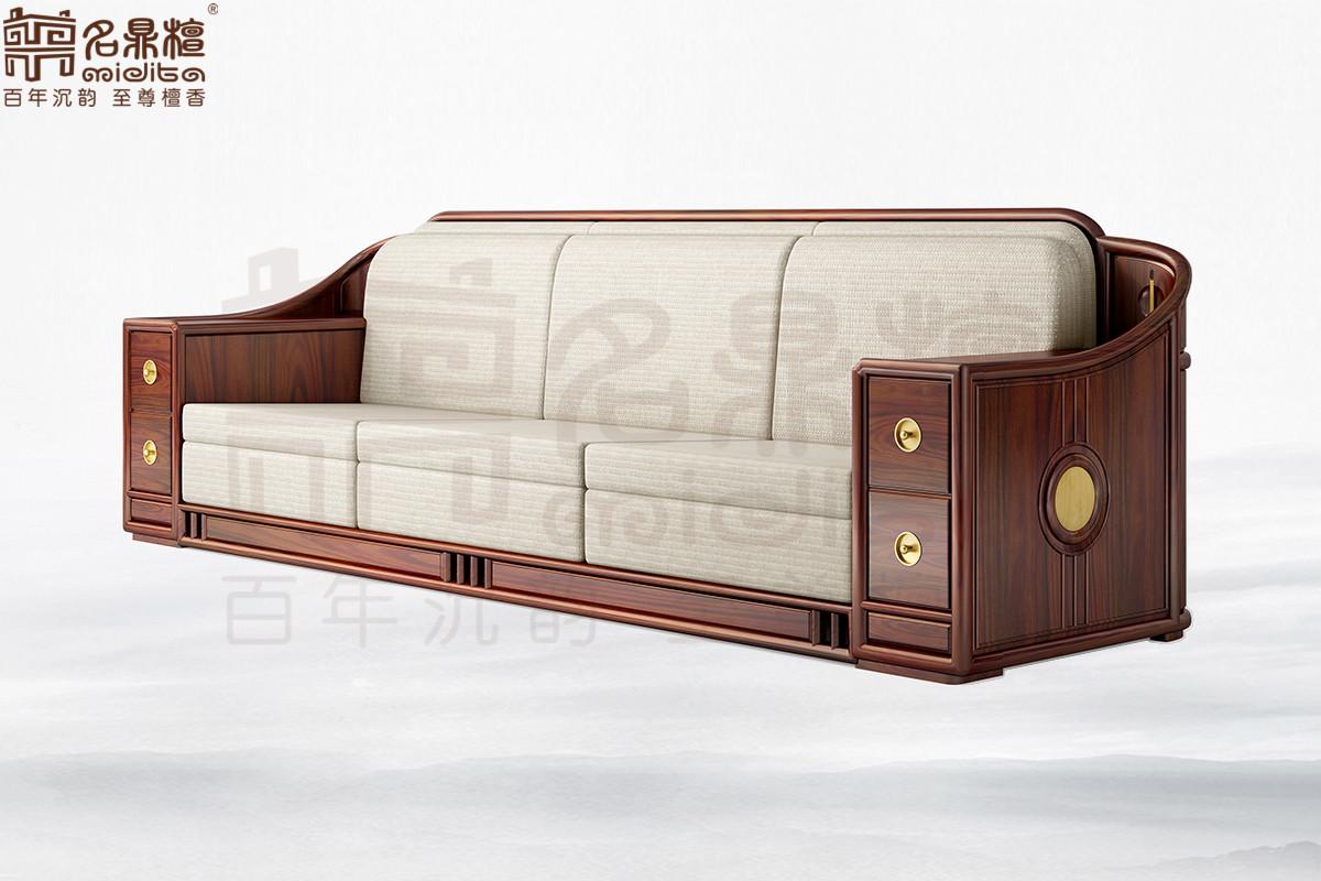 名鼎檀·逸芳系列188E现代中式四人位沙发