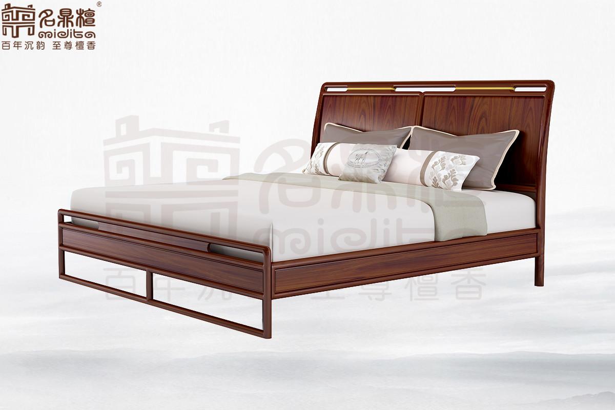 名鼎檀·逸芳系列188C现代中式大床 1.8米 (排架)