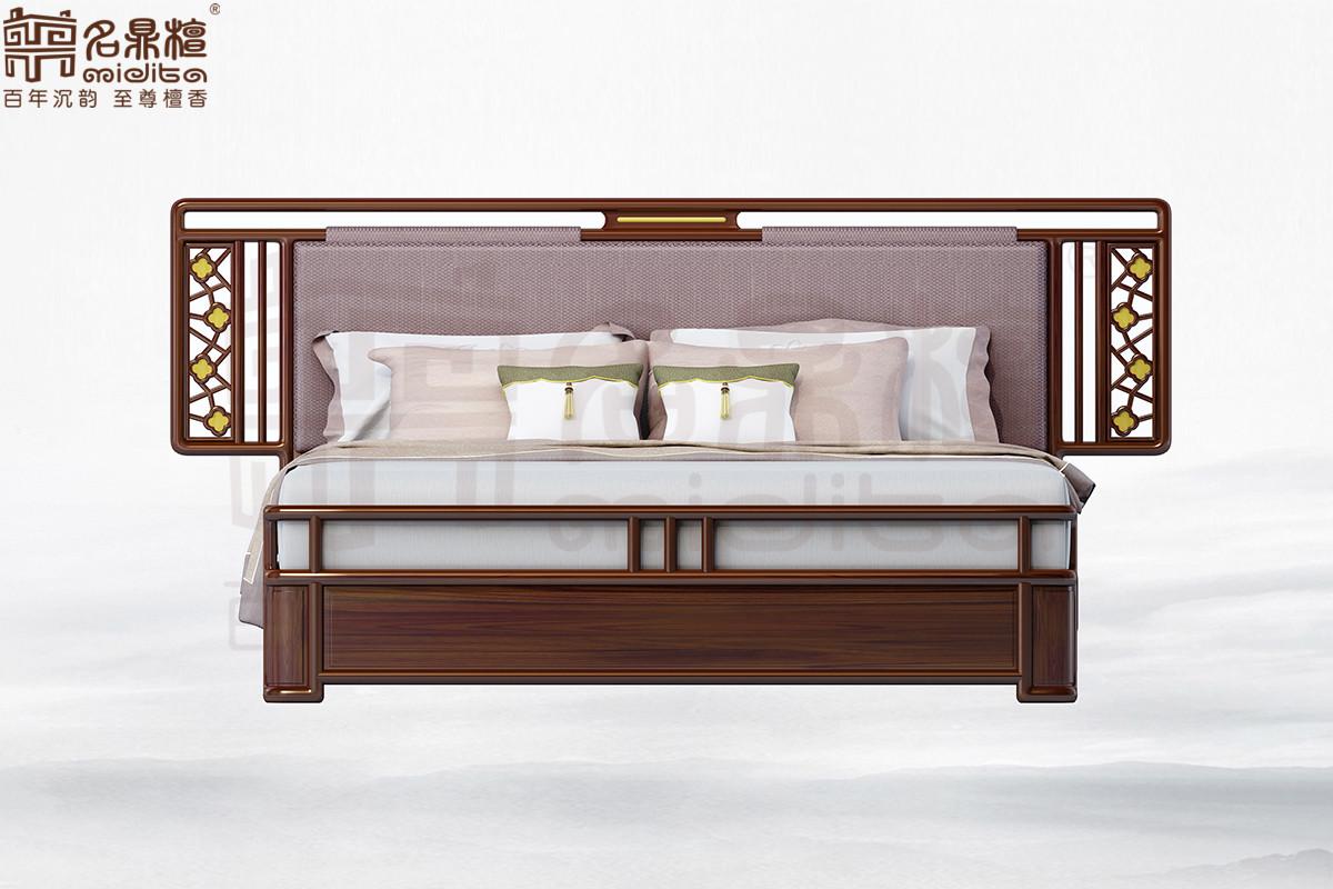 名鼎檀·逸芳系列188D现代中式大床 1.8米 (排架)