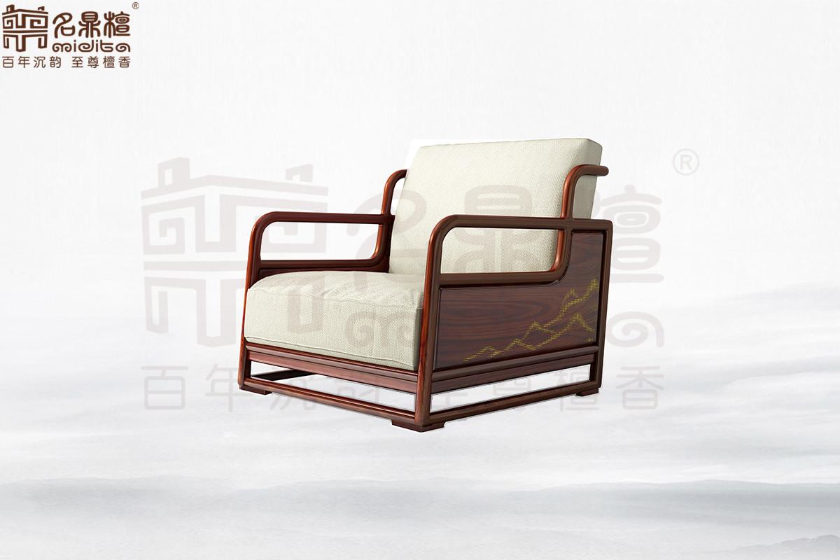 名鼎檀·逸芳系列188B现代中式单人位沙发