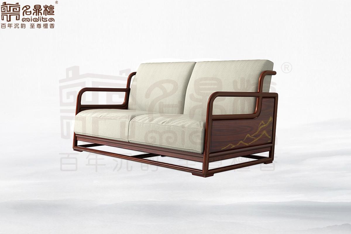 名鼎檀·逸芳系列188B现代中式双人位沙发