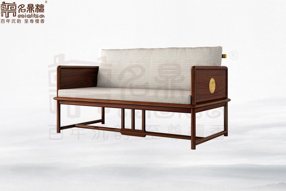 名鼎檀·逸芳系列188C现代中式双人位沙发