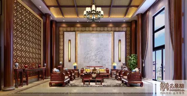 名鼎檀红木家具中式居家案例:尊雅沉稳的王者之气