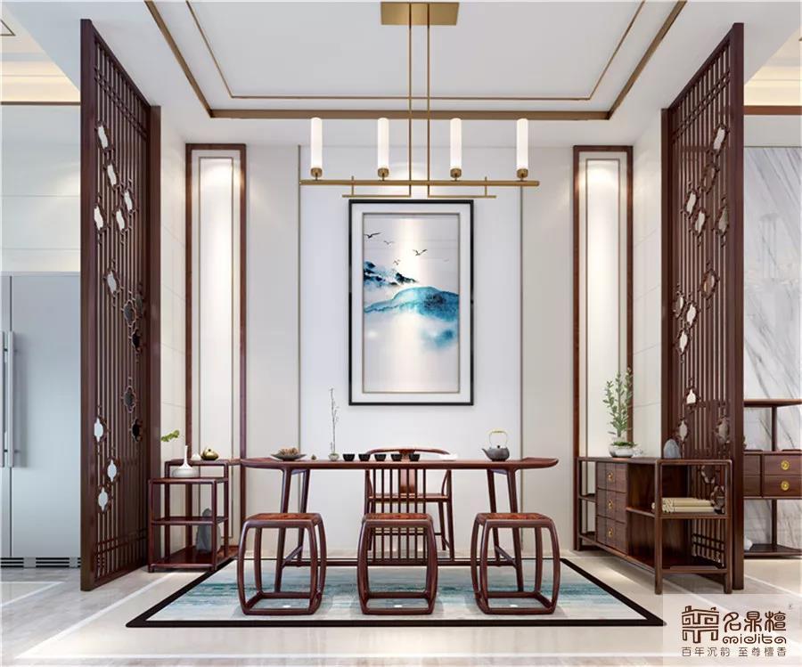 名鼎檀红木家具中式案例:写意新中式