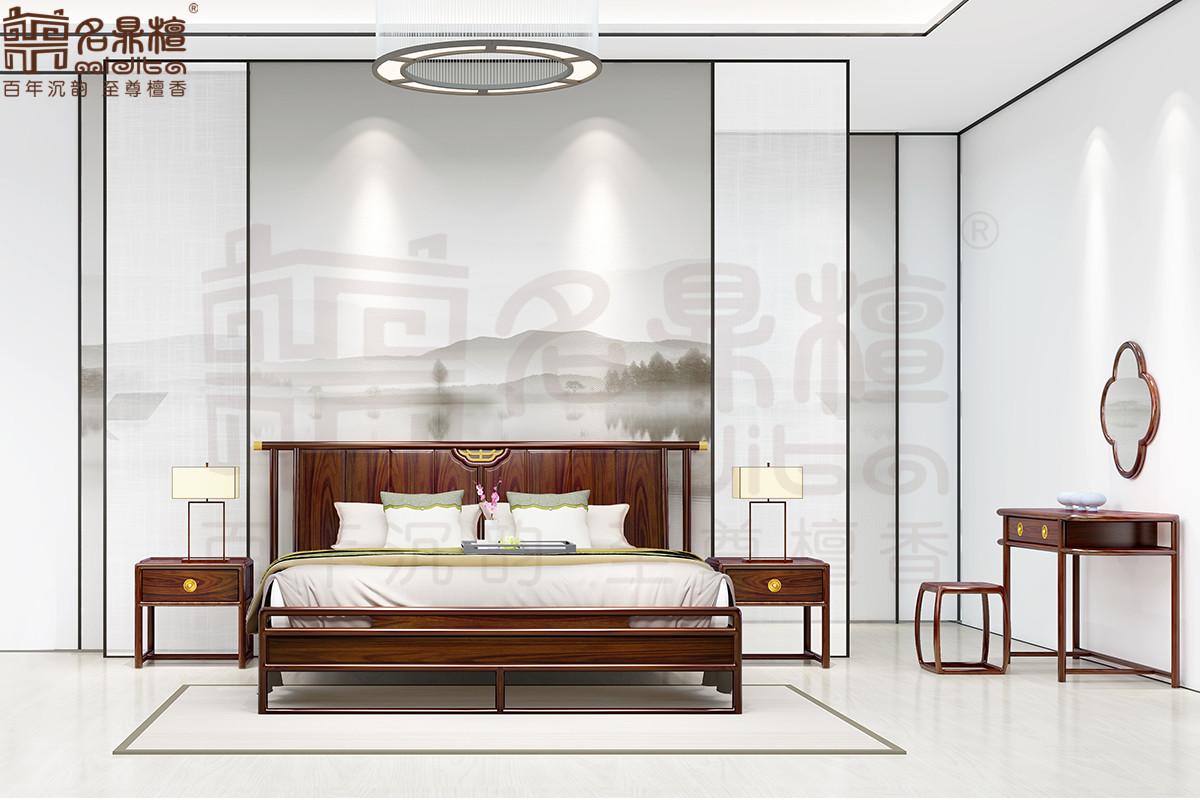 名鼎檀·逸芳系列188B现代中式卧房组合