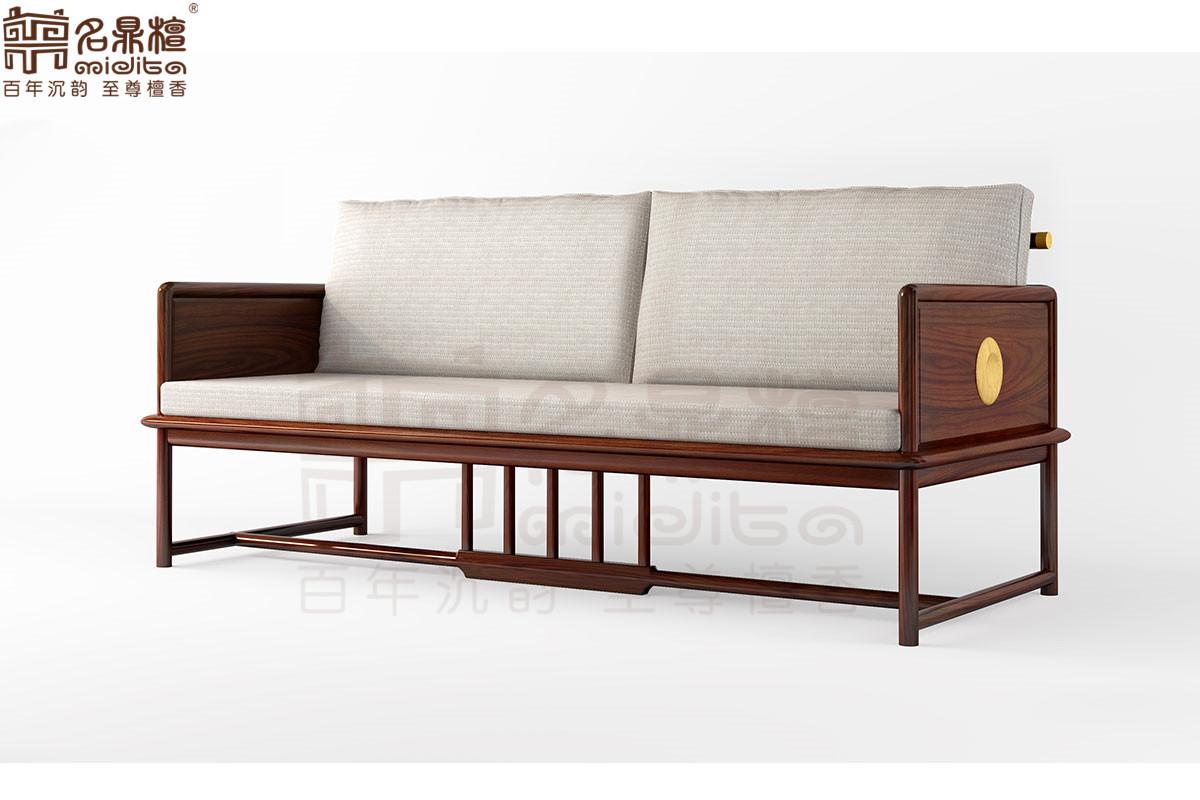名鼎檀·逸芳系列188C现代中式三人位沙发