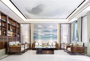 新中式风格 · 别墅   一方宁静,一方闲雅