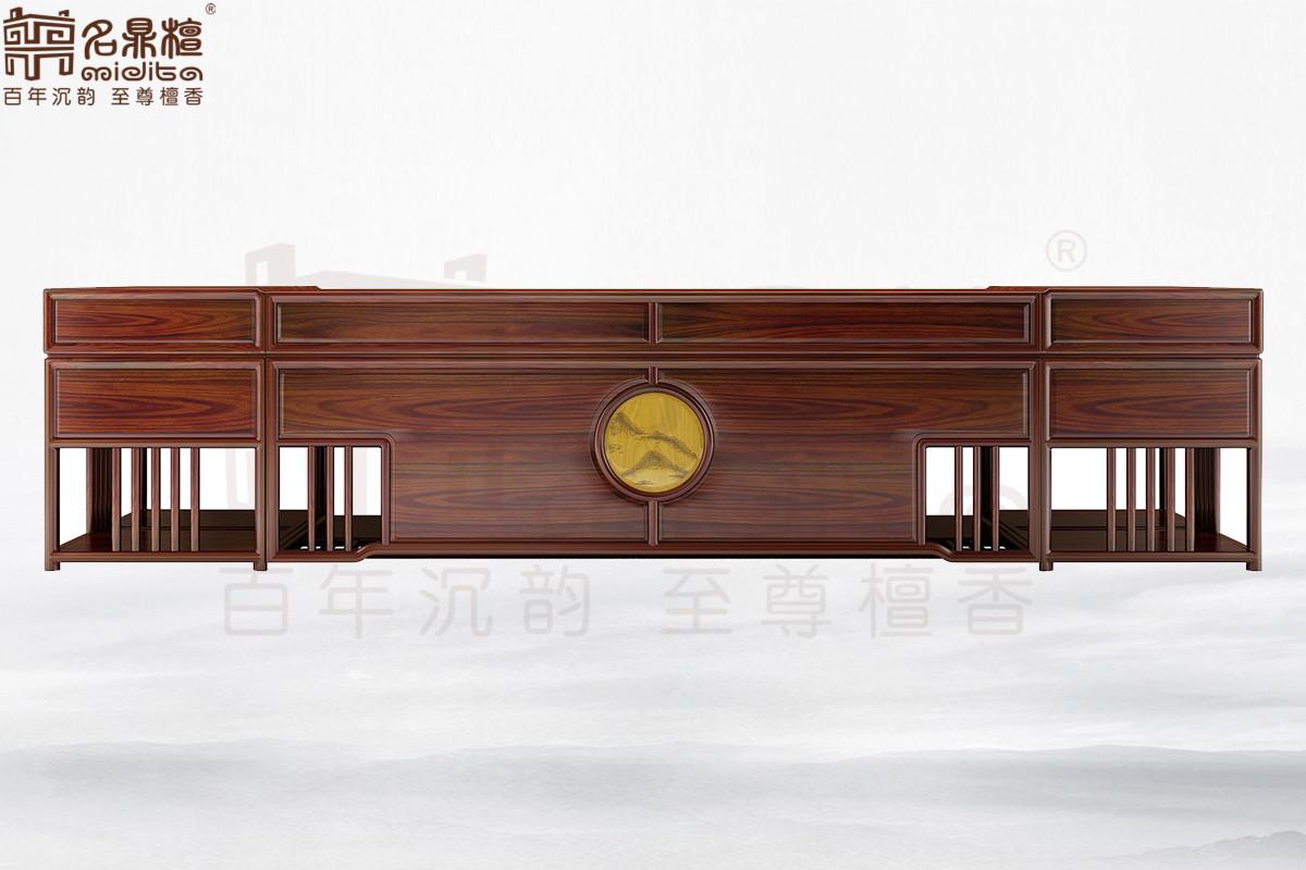 名鼎檀·逸芳系列188C现代中式书桌(3.66M)