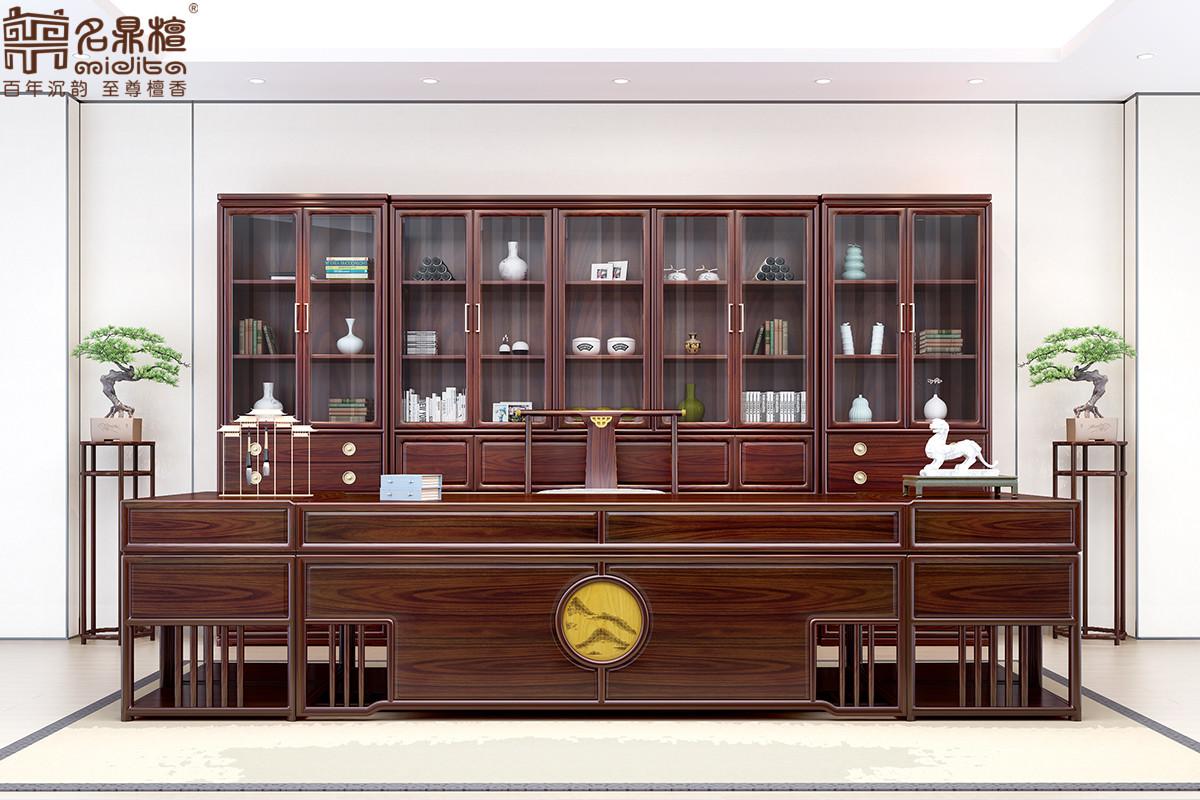 名鼎檀·逸芳系列188C现代中式书房组合