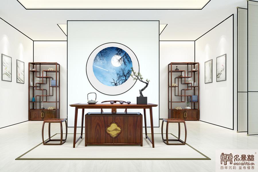 名鼎檀红木新中式家具:闲时,听风说书
