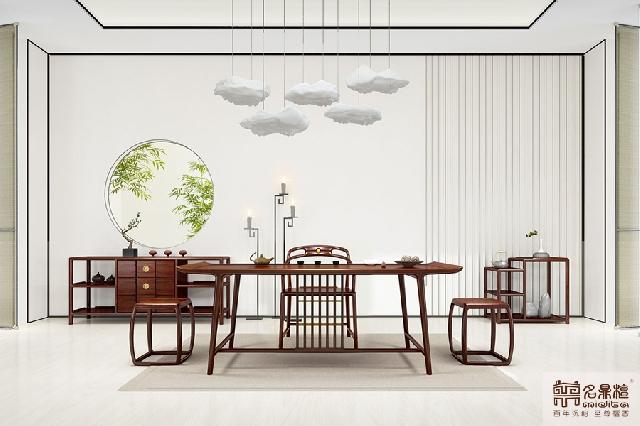 """名鼎檀红木新中式家具:茶室有它,怎一个""""雅""""字了得!"""