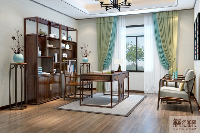 红木新中式家具:清闲无事,坐卧随心