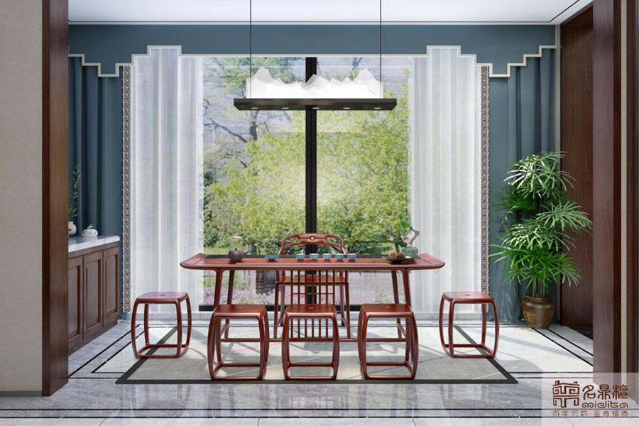红木新中式家具:笔情墨趣,描尽线条之美